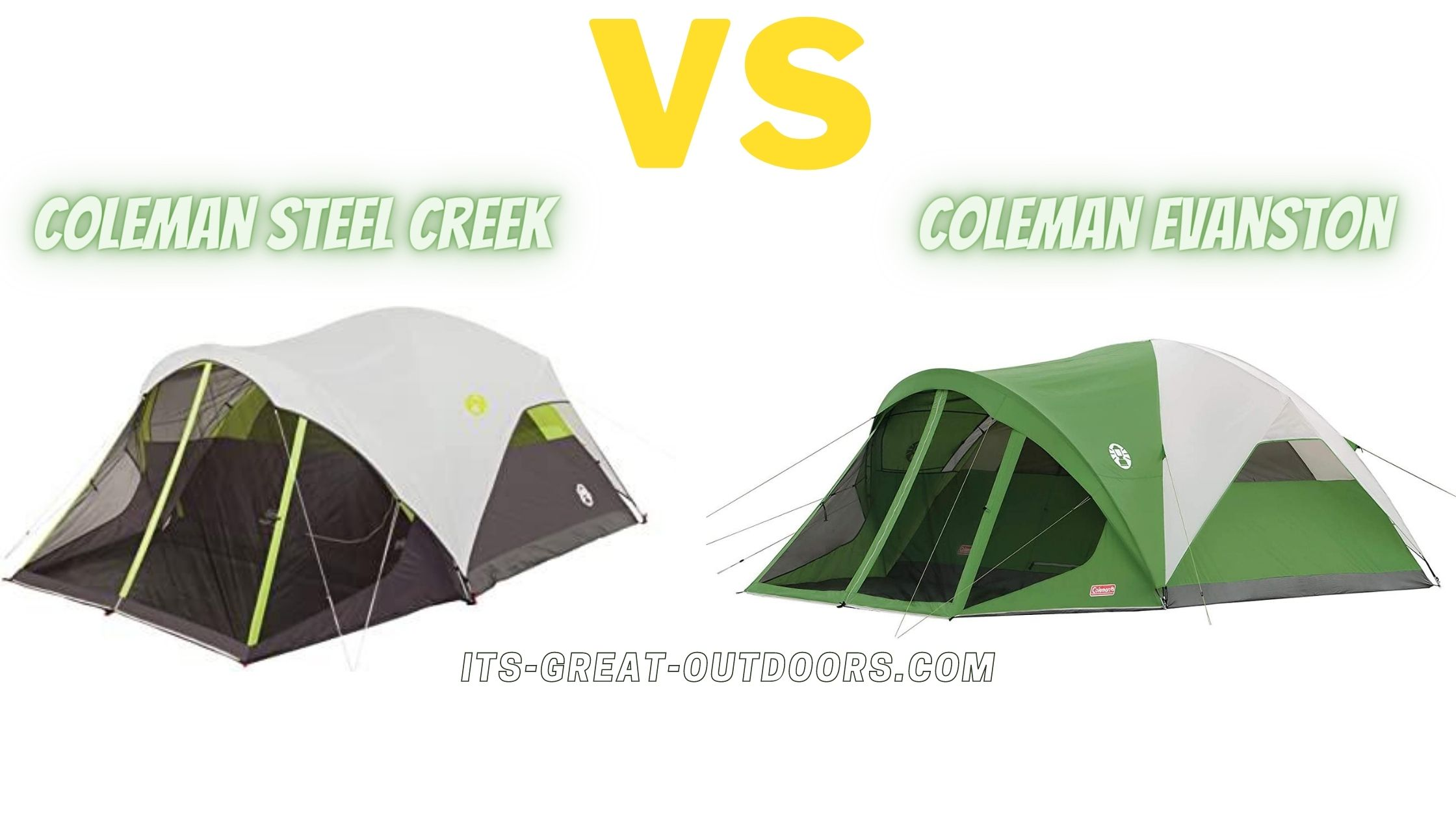 Coleman Evanston vs Steel Creek Comparison