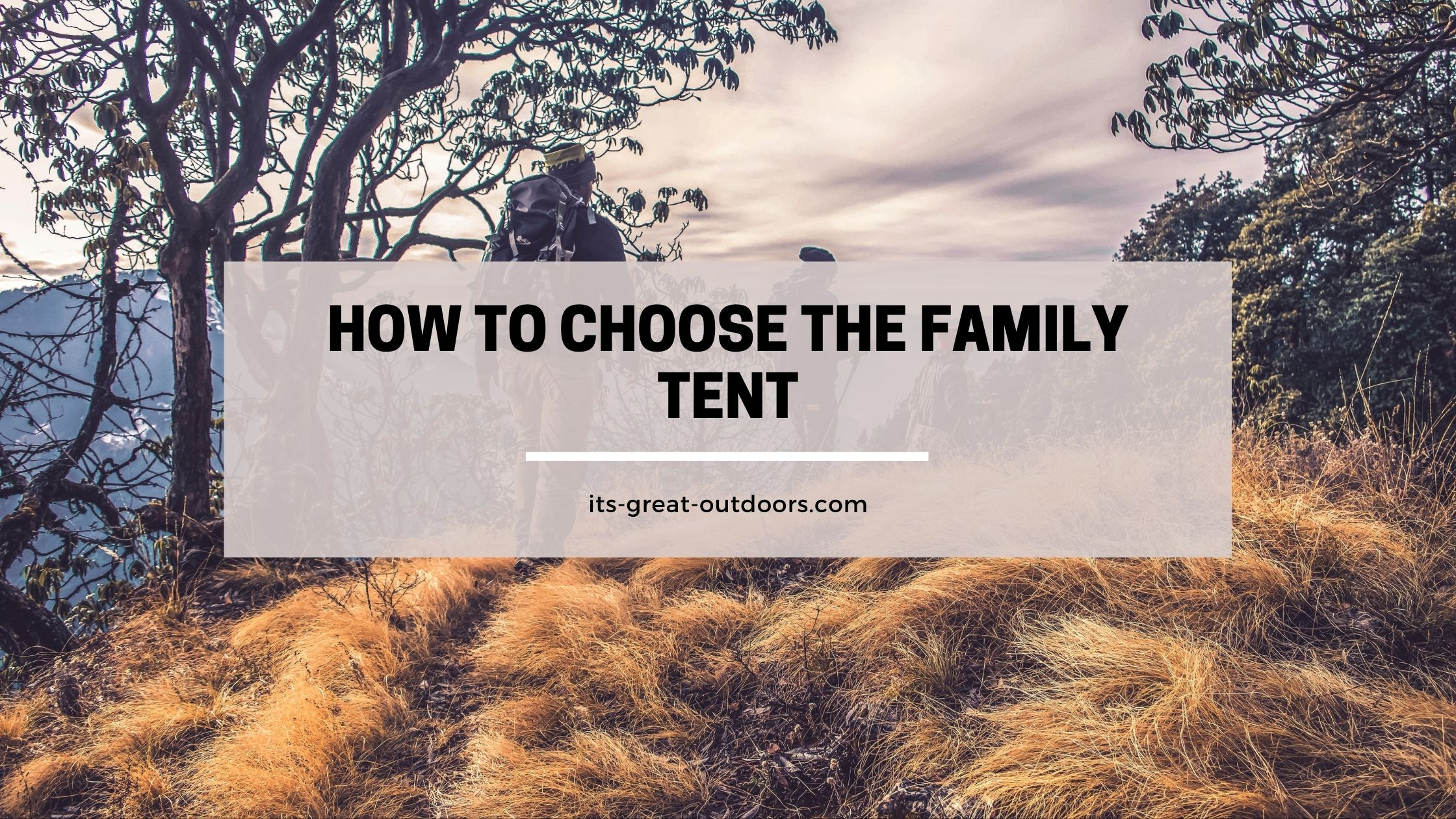 Choose the Perfect Family Tent